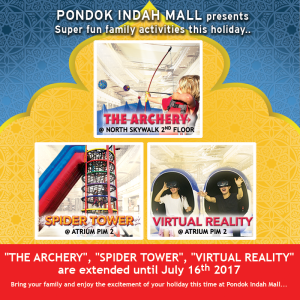 The excitement at Pondok Indah Mall are Extended!