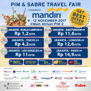 PIM & SABRE TRAVEL FAIR 2017 sponsored by BANK MANDIRI