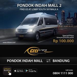"Cititrans ""Executive Shuttle"" hadir di Pondok Indah Mall!"
