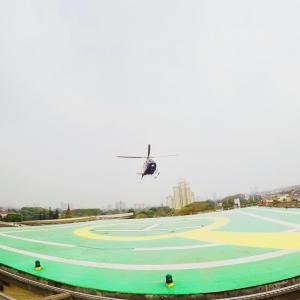 Helicopter Pondok Indah Mall Tembus Kemacetan