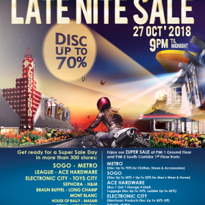 LATE NIGHT SALE 2018