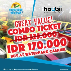 Combo Ticket Pondok Indah Waterpark X Houbii!