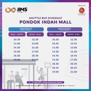 FREE SHUTTLE TO IIMS 2021 FOR OUR VISITOR
